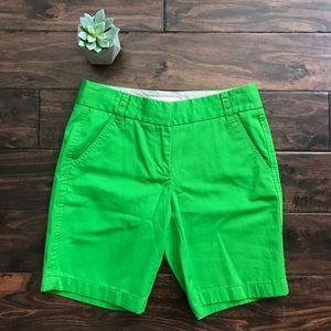 J. Crew Green Bermuda Chino Shorts